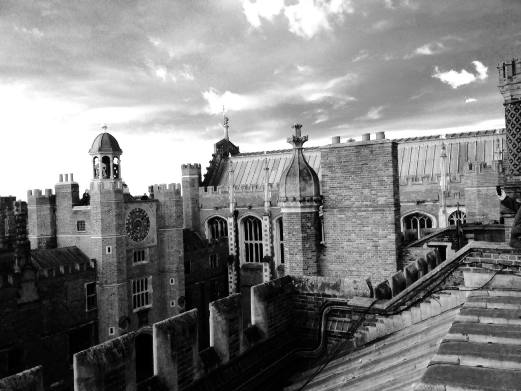 The roof of the Great Hall on a blustery day in March