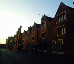 Tennis Court lane, at dawn on an August morning.
