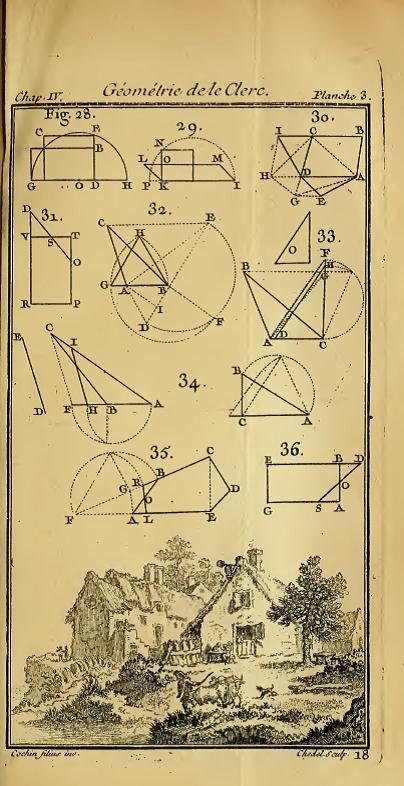 Sebastien Le Clerc's Pratique de la Géométrie (1699)
