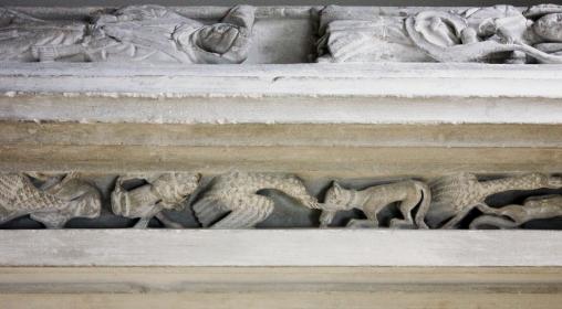 Reynard the Fox carving on Sir John Holland's Tomb