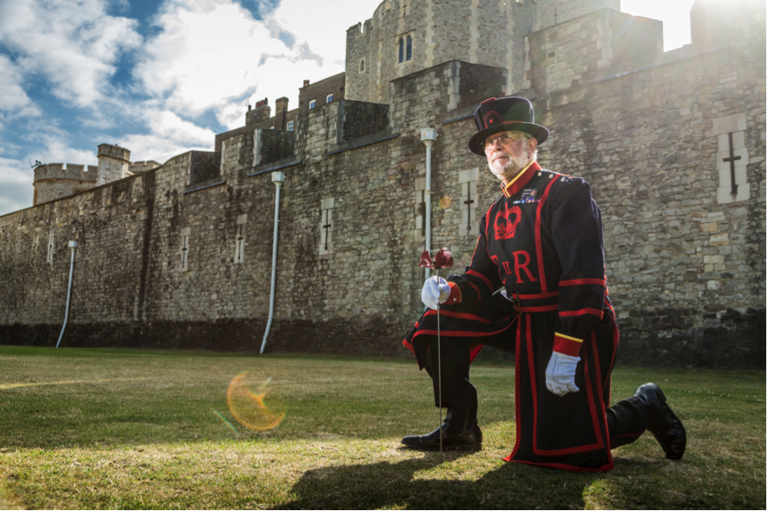 Yeoman Warder Planting the First Poppy