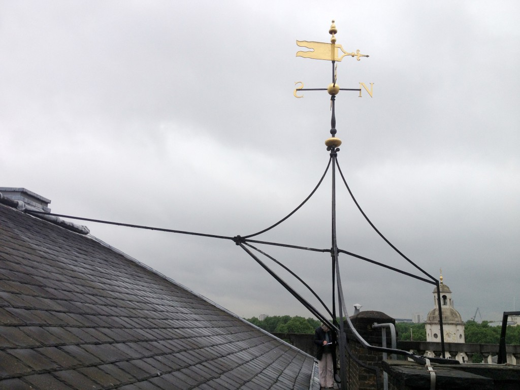 The weather vane – up close on a stormy day