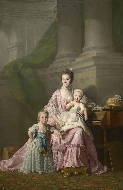 Queen Charlotte (1744-1818) with her two eldest sons, c.1764-9. Allan Ramsay. Royal Collection Trust/ © HM Queen Elizabeth II 2015