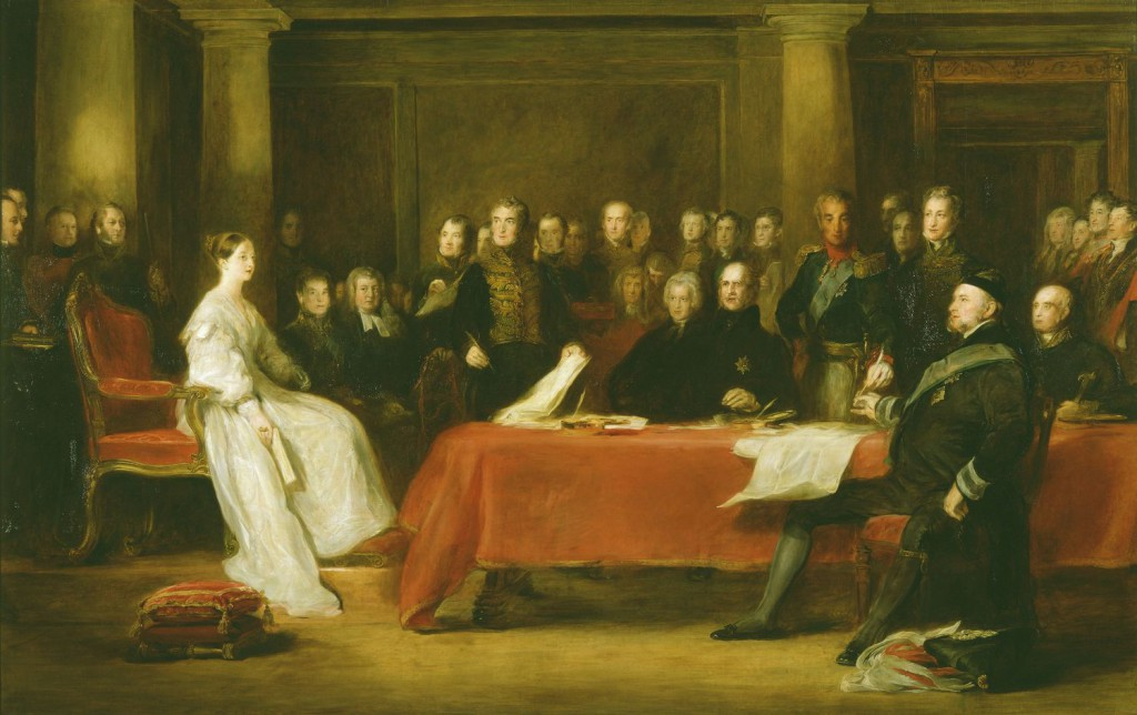 The First Council of Queen Victoria by Sir David Wilkie, 1838 © The Royal Collection Trust
