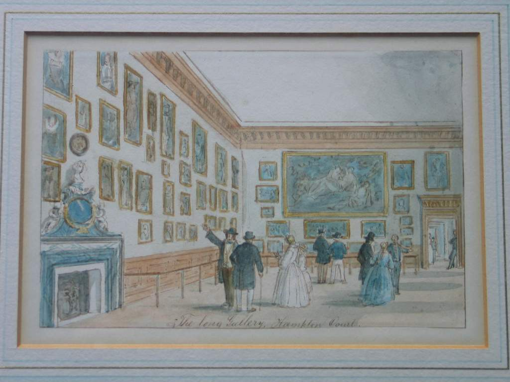 'The Long Gallery' (now known as 'The Queen's Gallery) at Hampton Court Palace, c1853-62, by an unknown artist