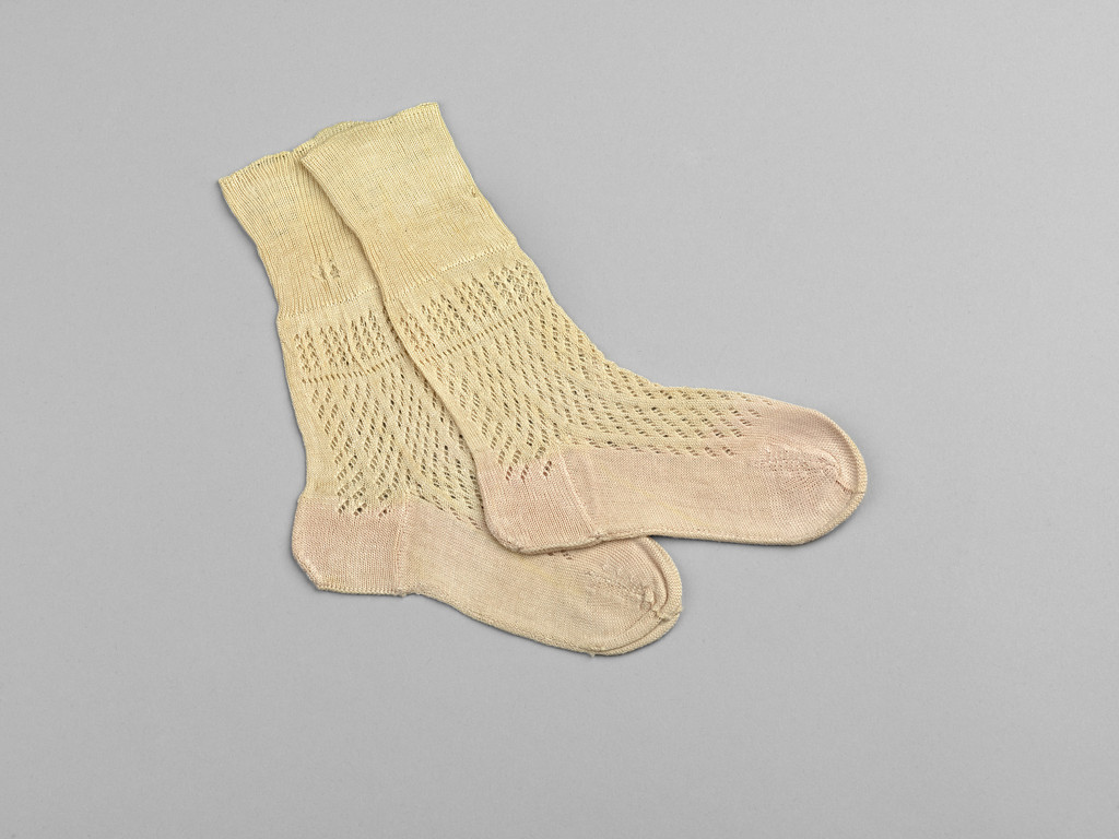 No holes here! Socks worn by Albert Edward Prince of Wales, 1842. ©Historic Royal Palaces