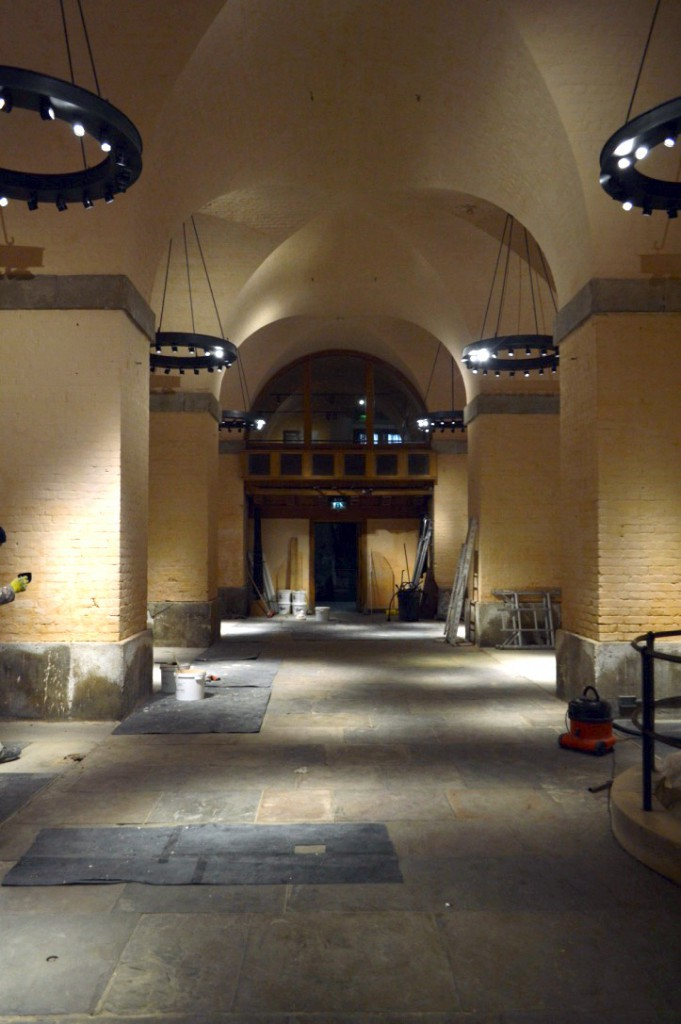 The basement of the White Tower showing the 18th-century brick vaults ©Historic Royal Palaces