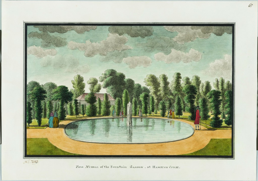 Unkempt yew trees in the Great Fountain Garden, by John Spyers, c1780 (© State Hermitage Museum, St Petersburg)