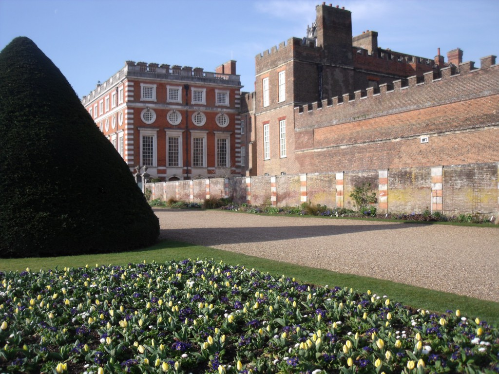The tulips in the gardens.