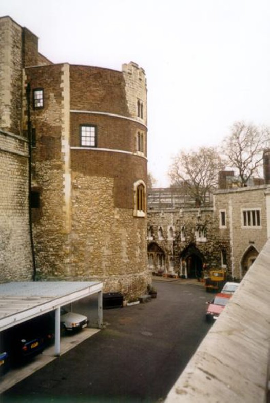 The Martin Tower, showing signs of centuries of change, including an experimental piece of 're-medievalising' in the early 20th century. ©Historic Royal Palaces