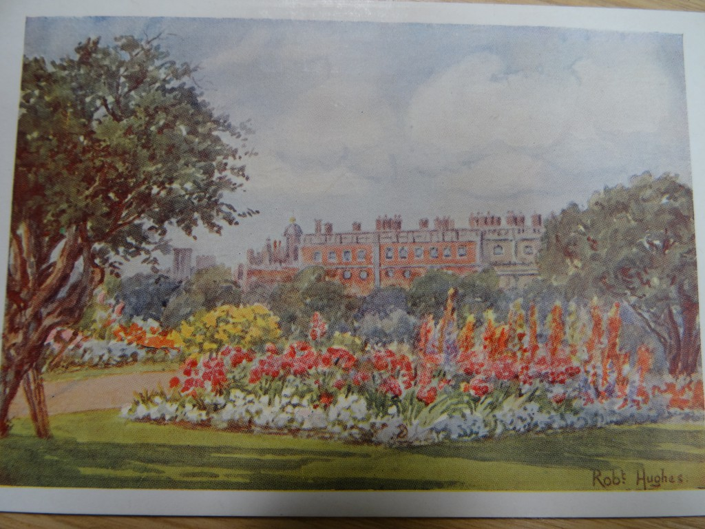 Robert Hughes Postcard of East Front Bedding in the 1920s