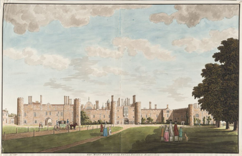 John Spyers, The West View of the Royal Palace at Hampton Court, Pen and ink, watercolour over pencil sketch; OP-7683 (The State Hermitage Museum, St Petersburg)