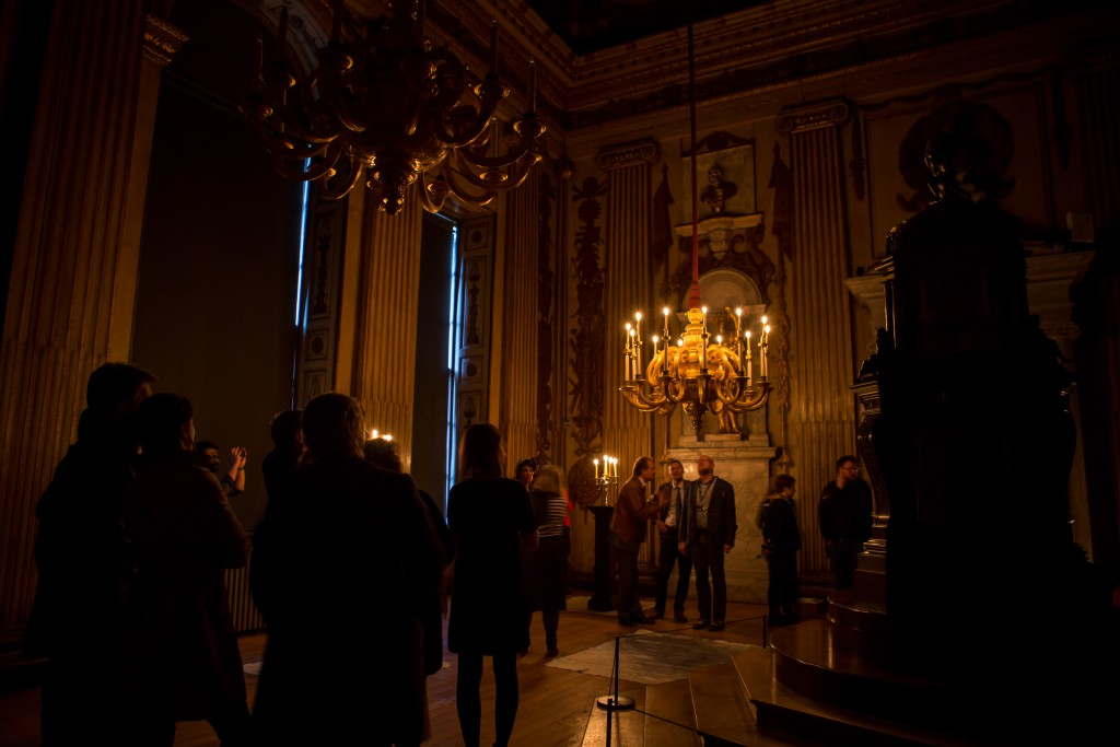 Cupola Room at Kensington Palace during the candlelight exercise © Historic Royal Palaces
