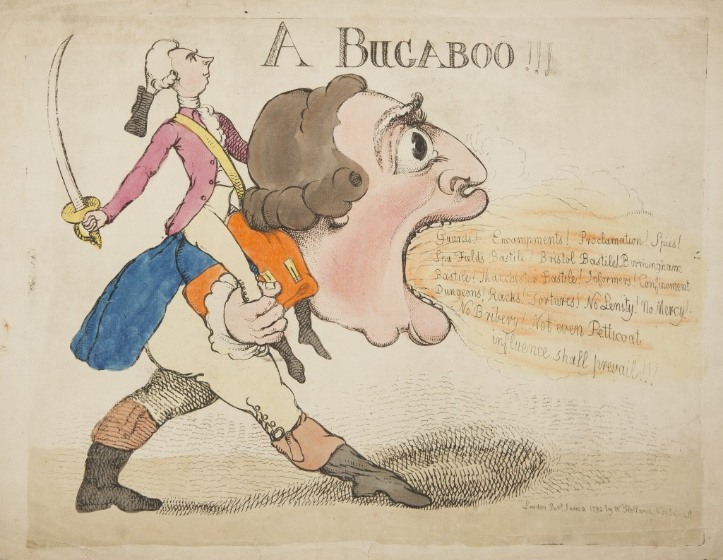 A Bugaboo! by Richard Newton (1777-1798) published by William Holland 2nd June 1792. ©Historic Royal Palaces.