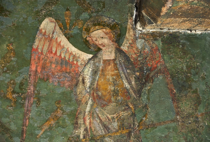Detail, St Michael the Archangel, Tower of London. Photograph: © Historic Royal Palaces