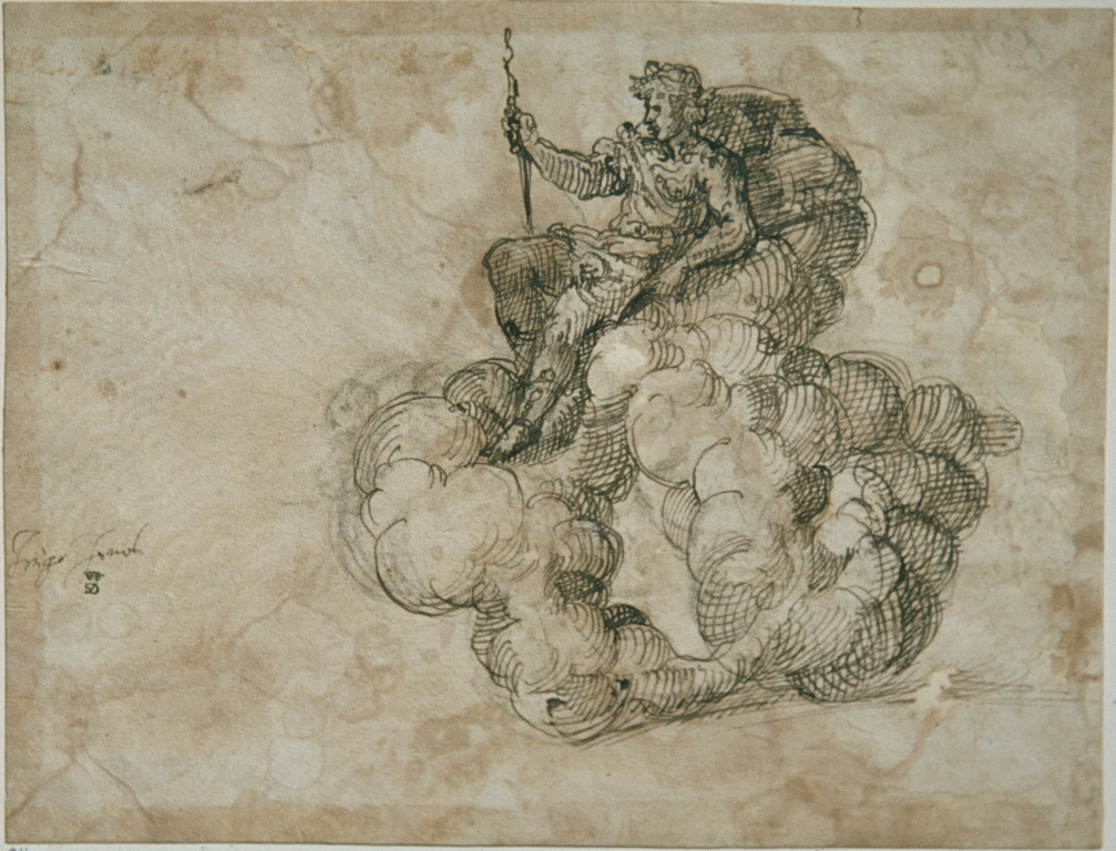 Inigo Jones, Design for Apollo for the Masque of Augers © Devonshire Collection, Chatsworth. Reproduced by permission of Chatsworth Settlement Trustees