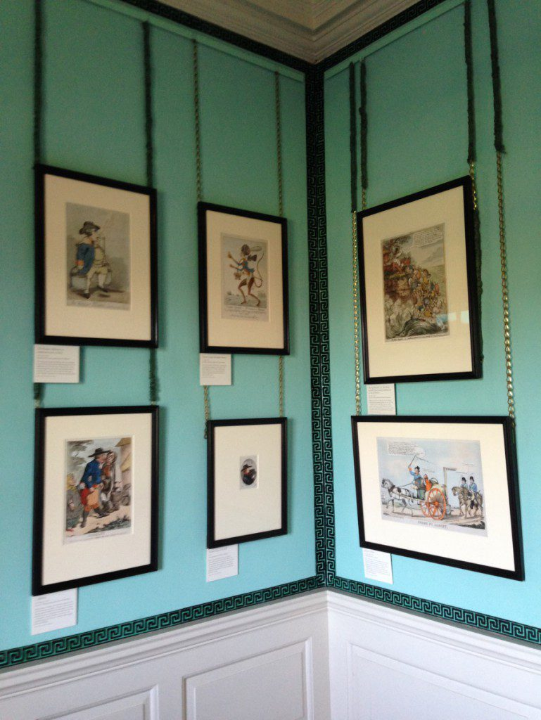 New display of satirical prints at Kew Palace © Historic Royal Palaces