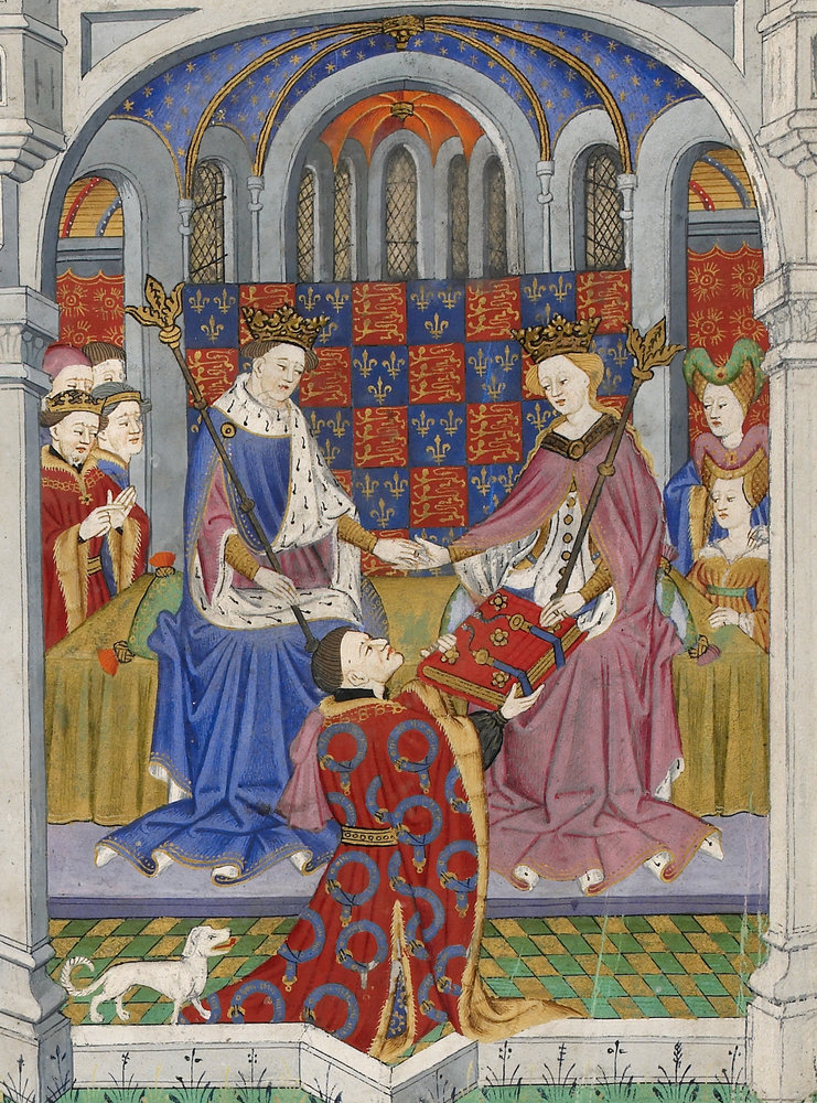 Margaret and Henry in the Talbot Shrewsbury Book. British Library Royal 15 E vi (https://www.bl.uk/collection-items/margaret-of-anjou-in-the-talbot-shrewsbury-book)