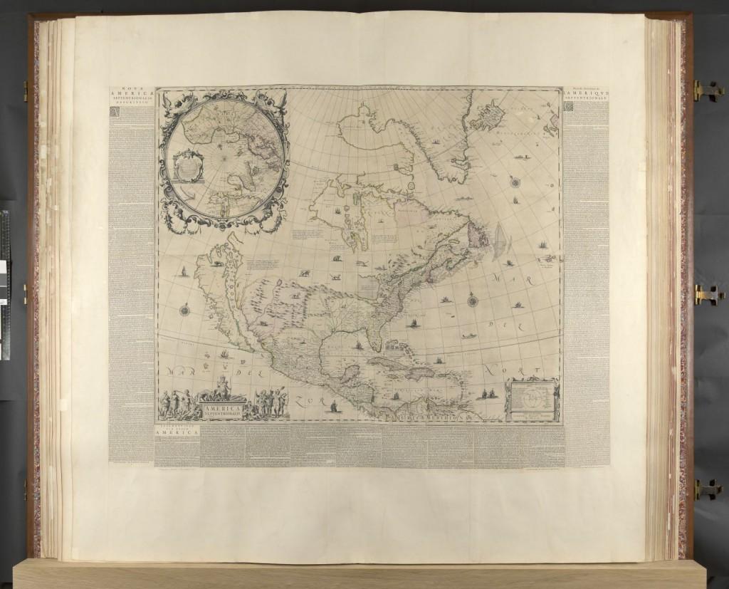 Map of America, from the Klencke Atlas. BL Maps KAR. Public Domain.