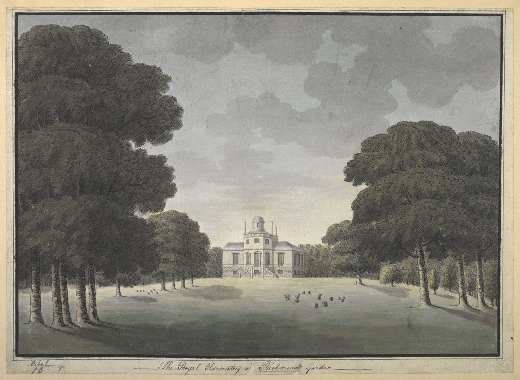 The Royal Observatory at Richmond Gardens, by John Spyers. BL Maps K.Top.41.16.r. CC-By-NC 4.0