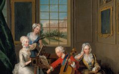 'The Music Party': Frederick, Prince of Wales with his Three Eldest Sisters, 1733.