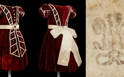 Conserving history: a Victorian child's dress worn for a wedding