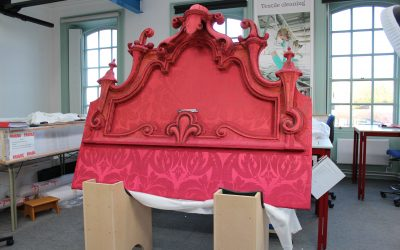 Conservation of an 18th century headboard | Secrets of State Bed