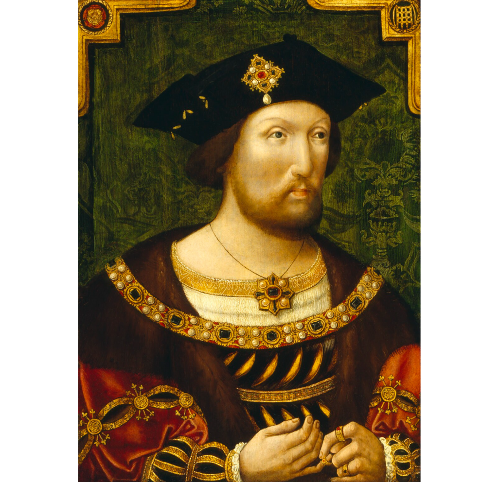 Portrait of a young Henry VIII from 1520